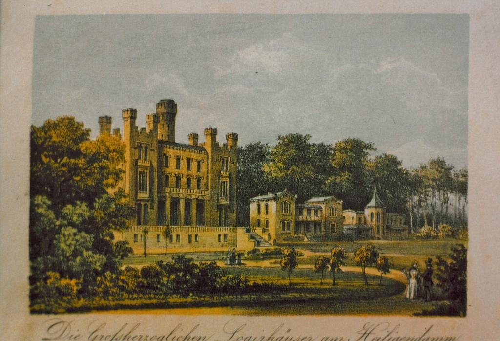 Früher: So sah die Burg Hohenzollern im 19. Jahrhundert und noch bis zum Zweiten Weltkrieg aus.