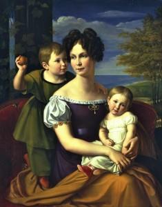 Malerei der Romantik: Friedrich Wilhelm von Schadow verewigte 1825 Großherzogin Alexandrine mit ihren Kindern.