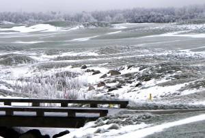 Auch im Winter bietet die Golfanlage in Wittenbeck einen schönen Anblick.