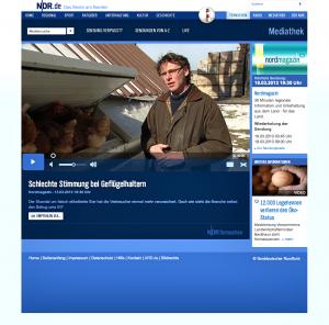 Der Beitrag über die Geflügelbranche in Mecklenburg-Vorpommern ist online mittlerweile nicht mehr zu sehen. Foto: NDR