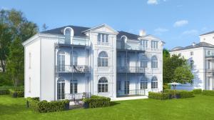 """Prächtiger denn je, wenn sie im kommenden Jahr fertiggestellt wird: die originalgetreu sanierte """"Villa Greif""""."""